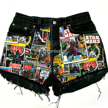 "ALL SIZES ""Join the Dark Side"" High Waisted Shorts"