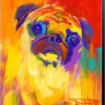 Pugness Animal Canvas Wall Art Print by Robert Blehert