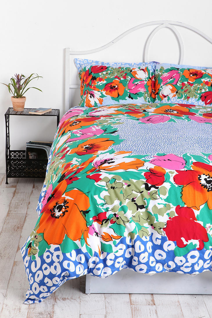 Floral Dot Scarf Duvet Cover From Urban Outfitters