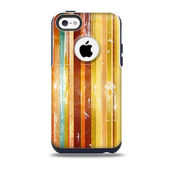 Smudged Yellow Painted Stripes Pattern Skin for the iPhone 5c OtterBox Commuter Case