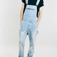 BLEACH WASH DUNGAREES - Men's Jeans - Clothing - TOPMAN