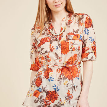 Orchard Up! Button-Up Top