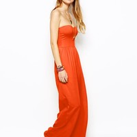 ASOS Bandeau Jumpsuit With Wide Leg