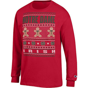 University of Notre Dame Fighting Irish Ugly Christmas Long Sleeve T-Shirt | University Of Notre Dame