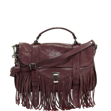 PS1 Medium Fringe Satchel Bag, Oxblood - Proenza Schouler