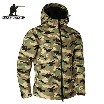 Mege Brand Men's Military Style Camouflage Waterproof Jacket/Coat