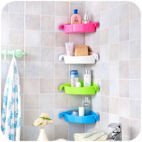 1pcs Multi-strong sucker bathroom racks, kitchen racks, toilet corner storage rack