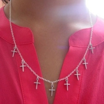 Multi Cross Necklace