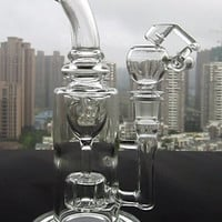 "9.5"" FC Torus glass bong Recycle glass bongs FC oil rigs glass bongs sturdy smoking water pipes joint size 14.4mm FC-Torus I"