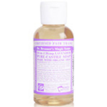 Dr. Bronner's Magic Soaps Organic 18-in-1 Hemp Pure Castile Liquid Soaps Lavender 2 fl. oz.