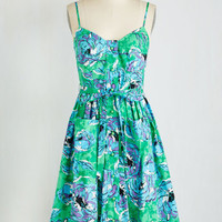 Plenty by Tracy Reese Long Spaghetti Straps Fit & Flare Under Lock and Swanky Dress