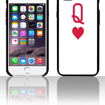 Queen of hearts 5 5s 6 6plus phone cases