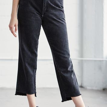 LA.EDIT Vintage Black Step Hem Jeans at PacSun.com