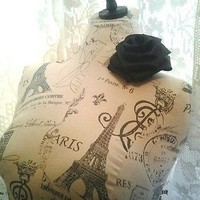 Boutique dress form bust to waist craft booth display wholesale French decor