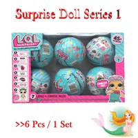 6Pcs LQL Baby Girl Surprise Doll 95mm Funny Finger Toy Egg Ball Water Spray Change lol Toy Figures For Kids Toys Christmas Gifts