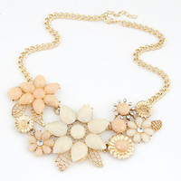 Statement Necklaces Pendants Flower Collier Femme Gold Plated Choker Colares