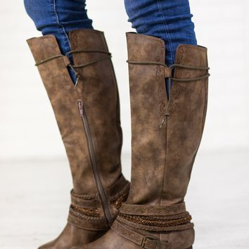 Not Rated Jurupa Boots - Taupe