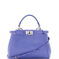 Fendi Peekaboo Micro Leather Satchel Bag