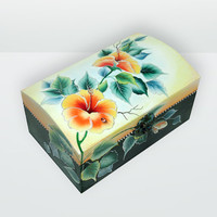 100 % Hand Painted / Home Decoration / Jewelry Box /Trinket Sewing Box / One Stroke Painting / Original painting by Elena Joliefleur