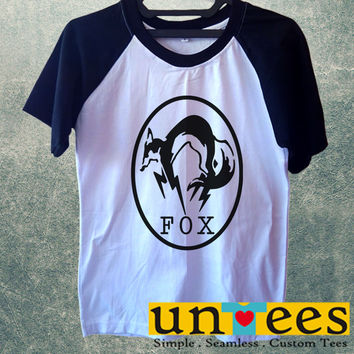 Metal Gear Solid Fox Logo Short Raglan Sleeves T-shirt