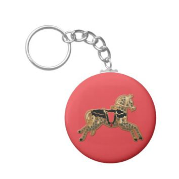 Sadie Spotted Horse Basic Round Button Keychain