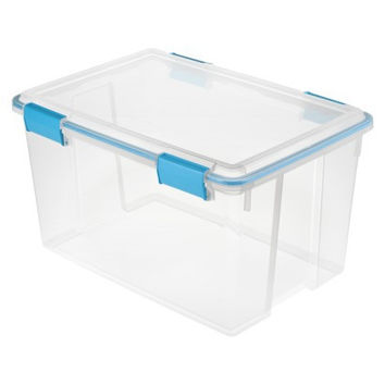 Sterilite® 54 Qt./13.5 Gal. Gasket-sealed Storage Bin - Aquarium Blue