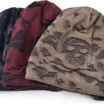 Skull pattern hat for Men & Women beanies Knitted wool