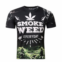 New Summer Brand Clothing Weed Everyday T-Shirt Men 3d Printing T shirt Casual Summer Style Tees Tops Fashion Clothing Unisex