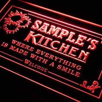 Personalized Kitchen II LED Neon Light Sign