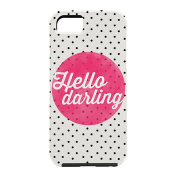 Allyson Johnson Hello Darling Dots Cell Phone Case