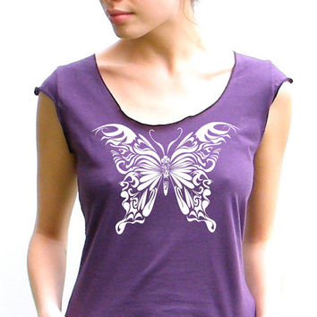 Butterfly - American Apparel Scoop Tee - small, medium, large, XL
