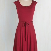 Mid-length Cap Sleeves A-line Easygoing My Own Way Dress