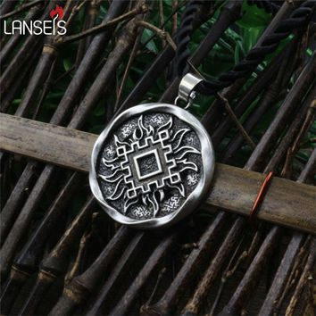 "1pcs Slavic Amulet ""Lucky Burdock"". Ancient slavic talisman pendant jewelry pagan men necklace norse Occult Symbol Pendant"