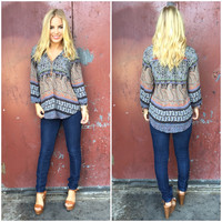 Repeat Paisley Blouse