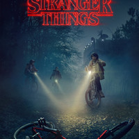Stranger Things (2016) Poster - Netflix Supernatural Horror Style C