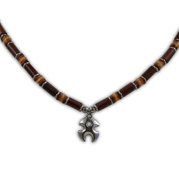 Tribal & Fimo Bead - Necklace