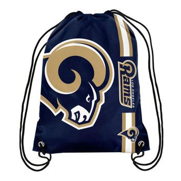 LA Rams NFL Drawstring BackPack - SackPack ~ NEW!
