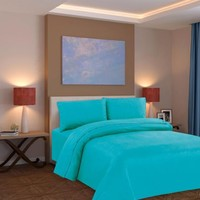 Hanna Davis Collection Affordable 4Pc Bed Sheet Set - Queen Size, AQUA