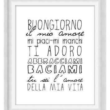 Printable Poster: Buongiorno - Vertical 8x10 - Digital Wall Art