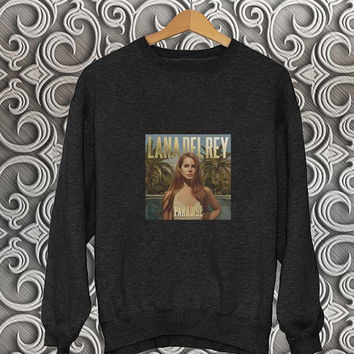 lana del rey paradise sweater Black Sweatshirt Crewneck Men or Women Unisex Size