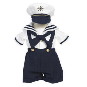 Baby Boy Christening Sailor Dress Outfit Sizes S-xl /#605