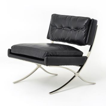 OXFORD LOUNGE CHAIR - OLD SADDLE BLACK