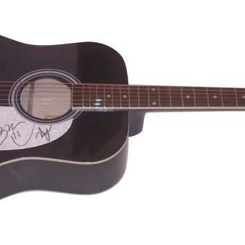 The Swon Brothers Duo Autographed Full Size 41 Inch Country Music Acoustic Guitar, Proof