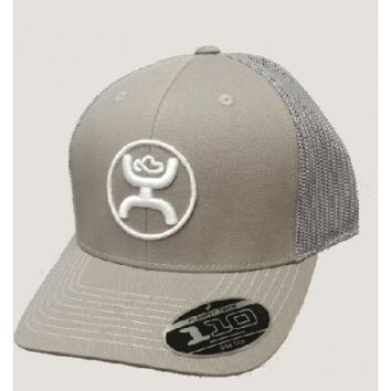 "HOOEY Caps : HOOey Cap ""Cody Ohl"" Gray and White Snap back Cowboy Cap"