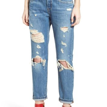 Levi's® 501™ Taper Ripped Boyfriend Jeans (Young and Reckless) | Nordstrom