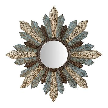 Hattie Distressed Sunburst Mirror, 40.5 in.