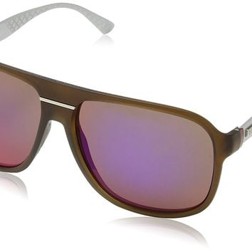 Gucci Sunglasses - 1076 / Frame: Brown Lens: Black Brown Infared