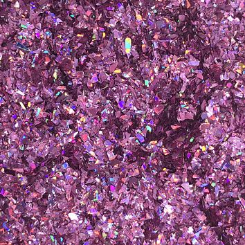 Tiny Glitter Flakes - Light Purple