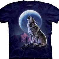 The Mountain Howling Lone Wolf Moon Tee T-shirt