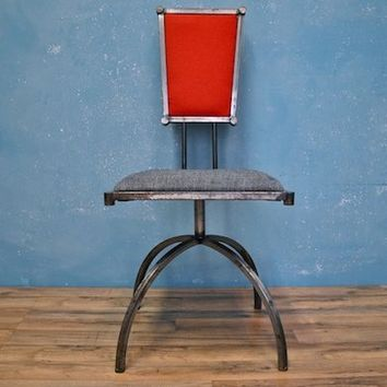 Set of Four Gothic Industrial Dining Chairs